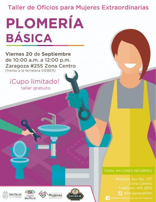 Ofrece Municipio taller de plomería básica para mujeres
