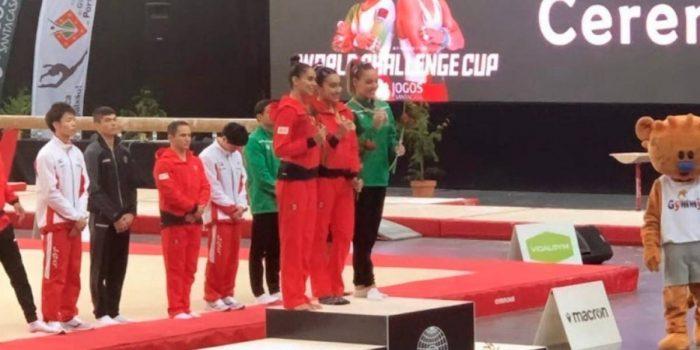 11 Medallas para México en la Copa del Mundo de Gimnasia en Portugal.