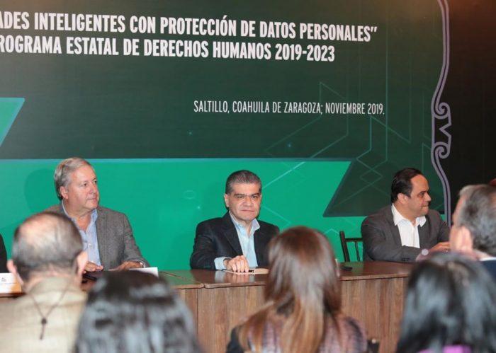 COAHUILA FIRMA CONVENIO 'CIUDADES INTELIGENTES CON PROTECCIÓN DE DATOS PERSONALES'