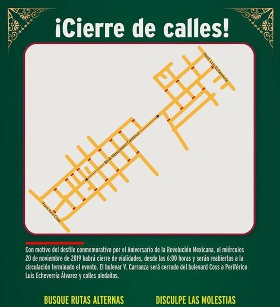 Listo operativo de seguridad y vialidad durante el desfile de la Revolución Mexicana