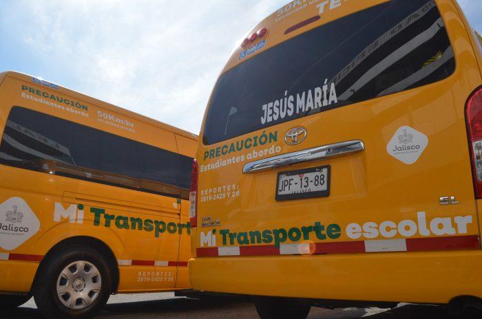 UNIDADES DE TRANSPORTE ESCOLAR AYUDARÁN A COMBATIR LA DESERCIÓN EN JALISCO