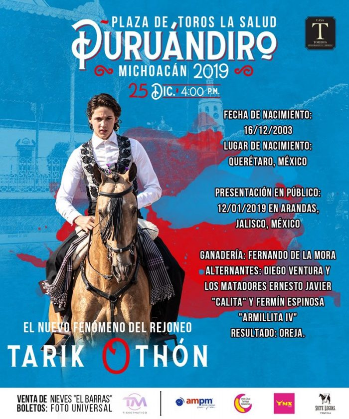 Tarik Othón el rejoneador se presenta este 25 de Diciembre ¡¡¡