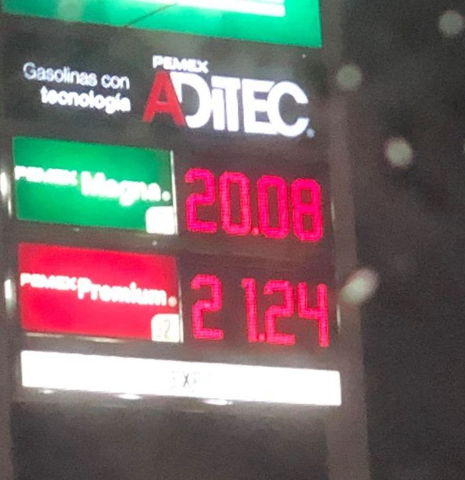 Aumenta la Gasolina, duro golpe a la economía de los Mexicanos