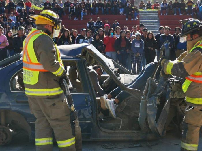 Muestran a estudiantes consecuencias de accidentes