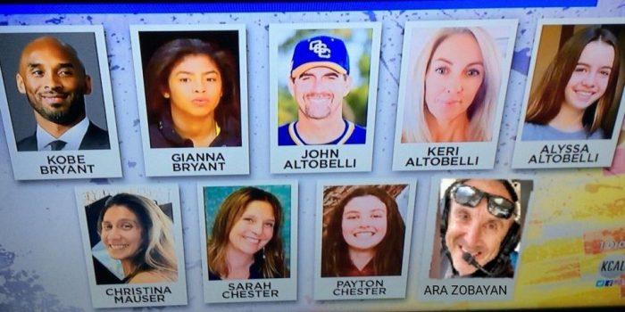 Identifican al resto de pasajeros que viajaban con Kobe Bryant; un entrenador y su familia, entre las víctimas