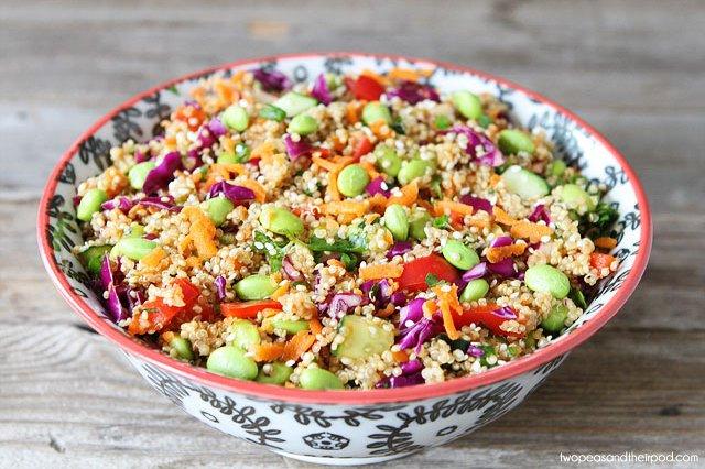 Receta Vegana : Ensalada templada de quinoa y verduras