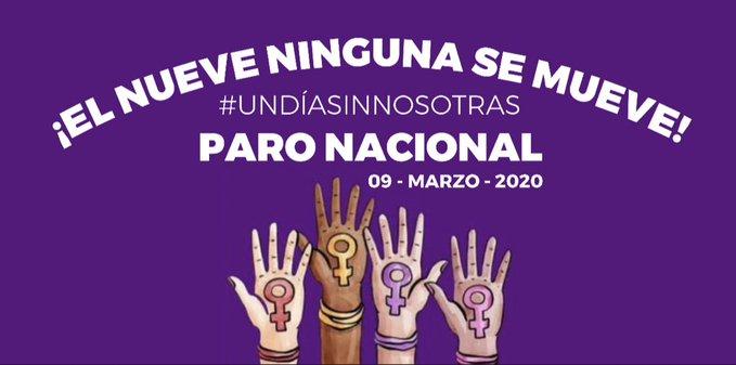 '¡El nueve ninguna se mueve!': feministas llaman a paro nacional de mujeres para el 9 de marzo