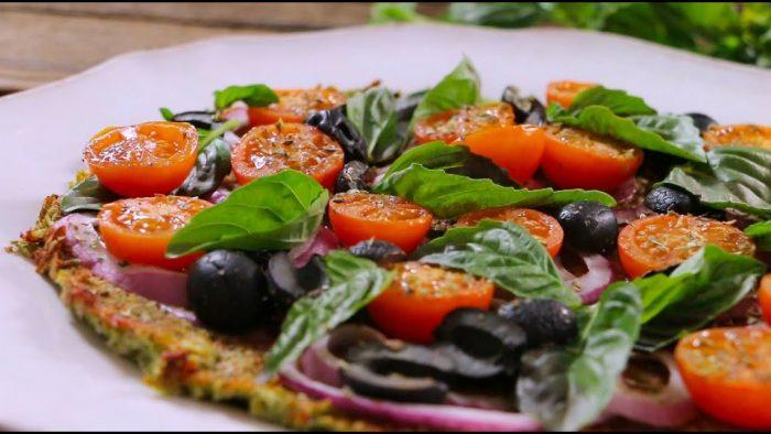 Receta Vegana: Pizza con base de coliflor.