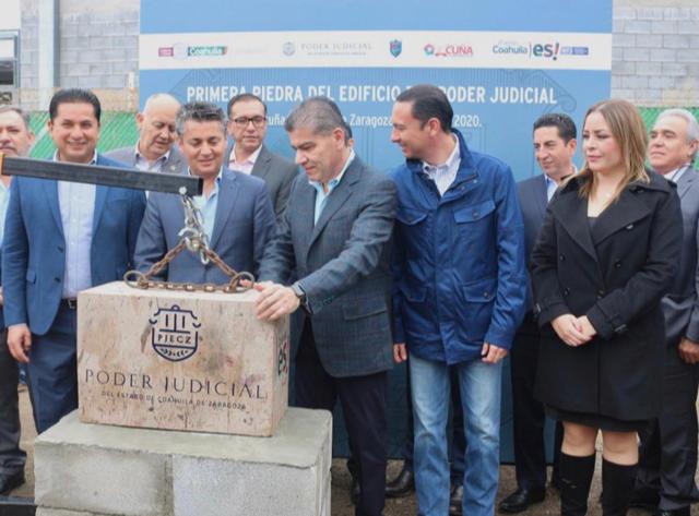 ARRANCA RIQUELME EDIFICIO DEL PODER JUDICIAL EN ACUÑA