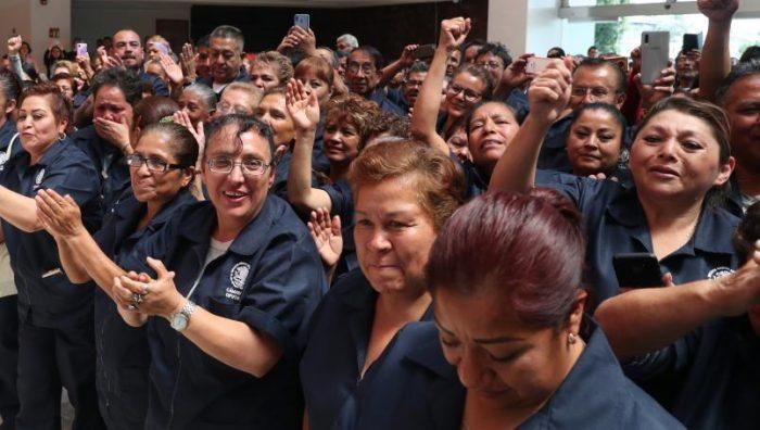 Cámara de diputados contrata a más de 400 trabajadores de limpieza