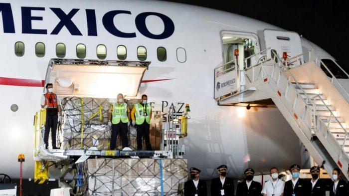 Llega a México séptimo avión con insumos médicos procedentes de China