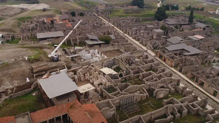 El museo de Pompeya enseña partes nunca vistas en un viaje virtual grabado con dron (Video)
