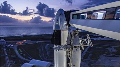 Suspenden lanzamiento de SpaceX y la NASA por mal clima