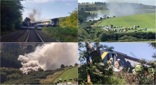 Al menos tres muertos y varios heridos de gravedad por el descarrilamiento de un tren de pasajeros en Escocia