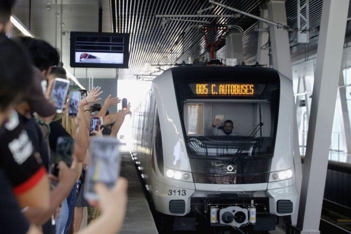 Enrique Alfaro y AMLO inauguran la Línea 3 de Mi Tren