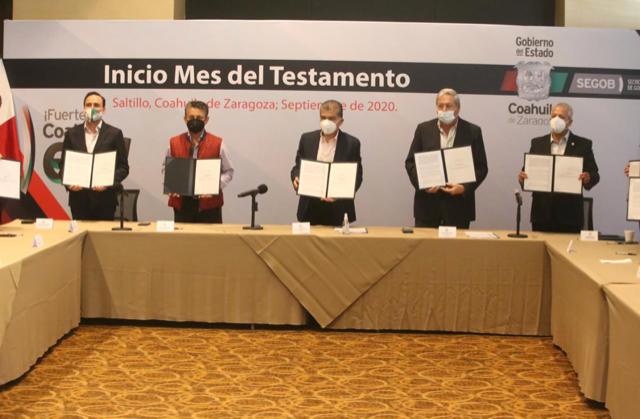 INICIA EN COAHUILA CAMPAÑA 'SEPTIEMBRE, MES DEL TESTAMENTO'