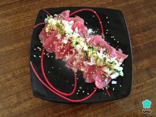 Tiradito de Atún¡¡¡delicioso y fácil de hacer