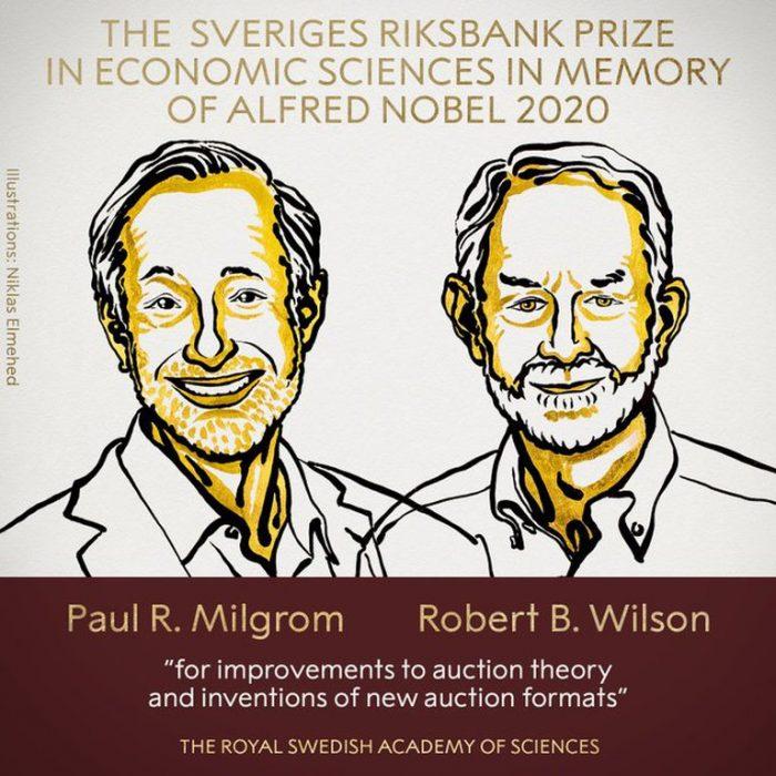 El premio Nobel de Economía fue otorgado a Paul Milgrom y Robert Wilson por renovar la teoría de las subastas