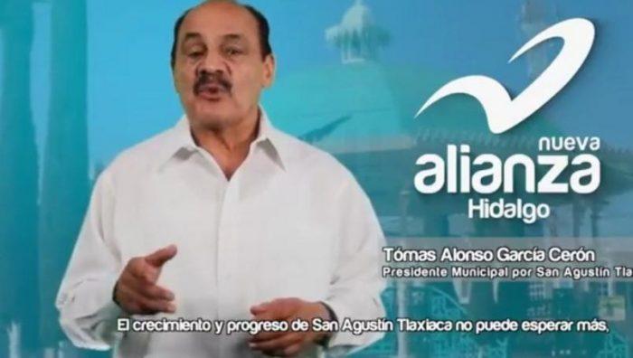 Muere por coronavirus Tomas Alonso García, candidato de Nueva Alianza en Hidalgo