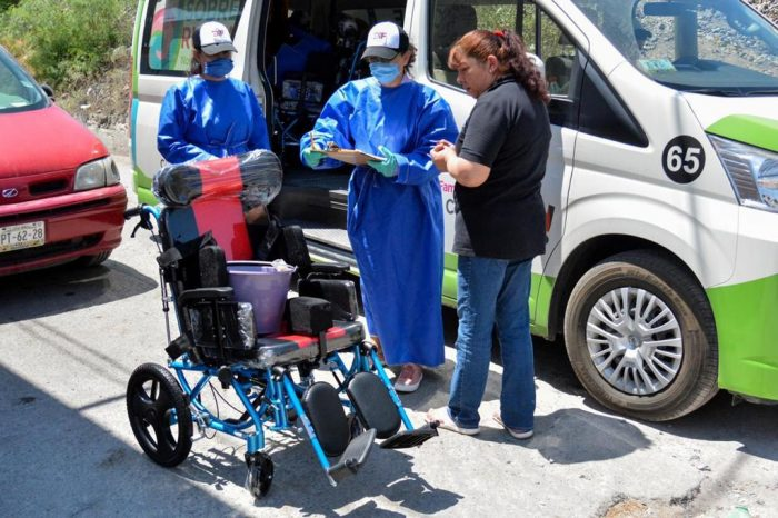 Entrega DIF Saltillo aparatos ortopedicosa domicilio