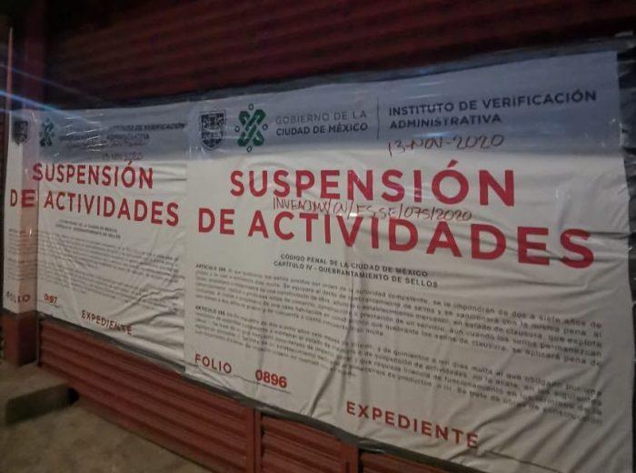 Suspenden bares en CDMX por incumplir medidas
