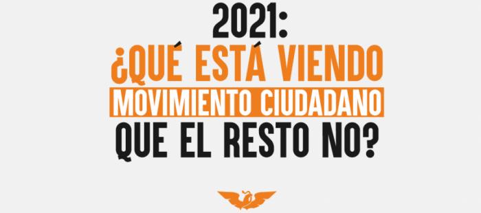 2021: ¿Qué está viendo Movimiento Ciudadano que el resto no?