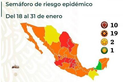 Coahuila pasa a semáforo rojo