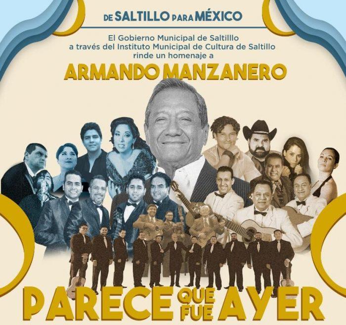 Rendirá Saltillo homenaje a Armando Manzanero