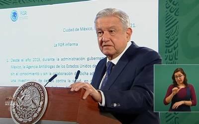 AMLO respalda exoneración a Cienfuegos: 'Le fabricaron cargos en EU', dice