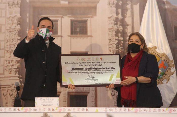 Felicidades Tecnológico de Saltillo por 70 años de grandeza: MJS