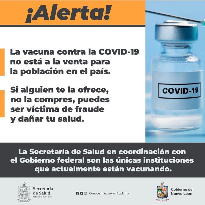 La Cofepris advierte sobre venta de vacuna apócrifa de Pfizer en Nuevo León