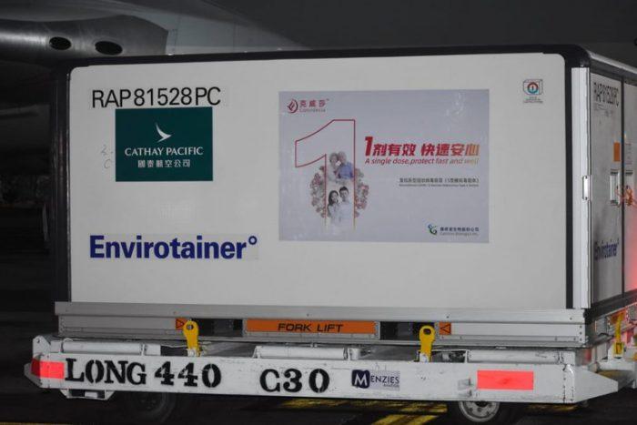 Llegan a México 65 mil dosis de vacunas CanSino contra el COVID-19