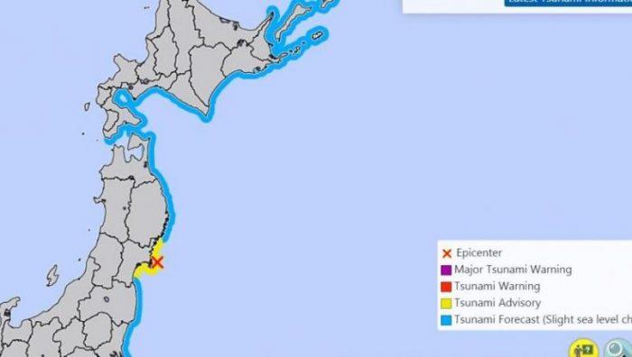 Fuerte sismo sacude a Japón