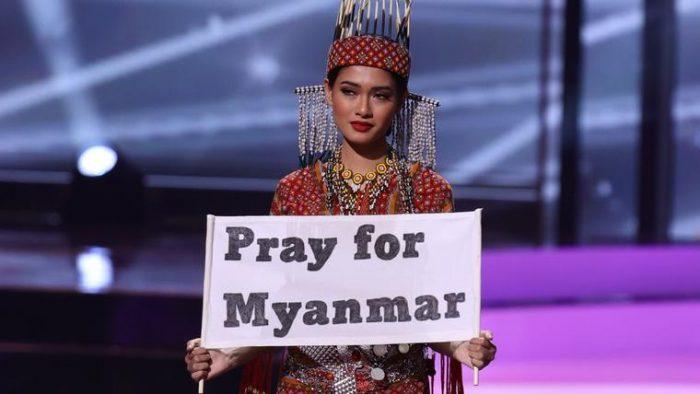 Miss Birmania, la concursante que podría ir a la cárcel por su mensaje en Miss Universo 2021