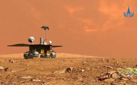 El primer astromóvil enviado por China a Marte comenzó a explorar la superficie del planeta rojo