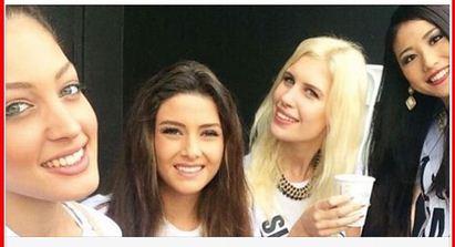 Una 'selfie' pone en aprietos al concurso de Miss Universo