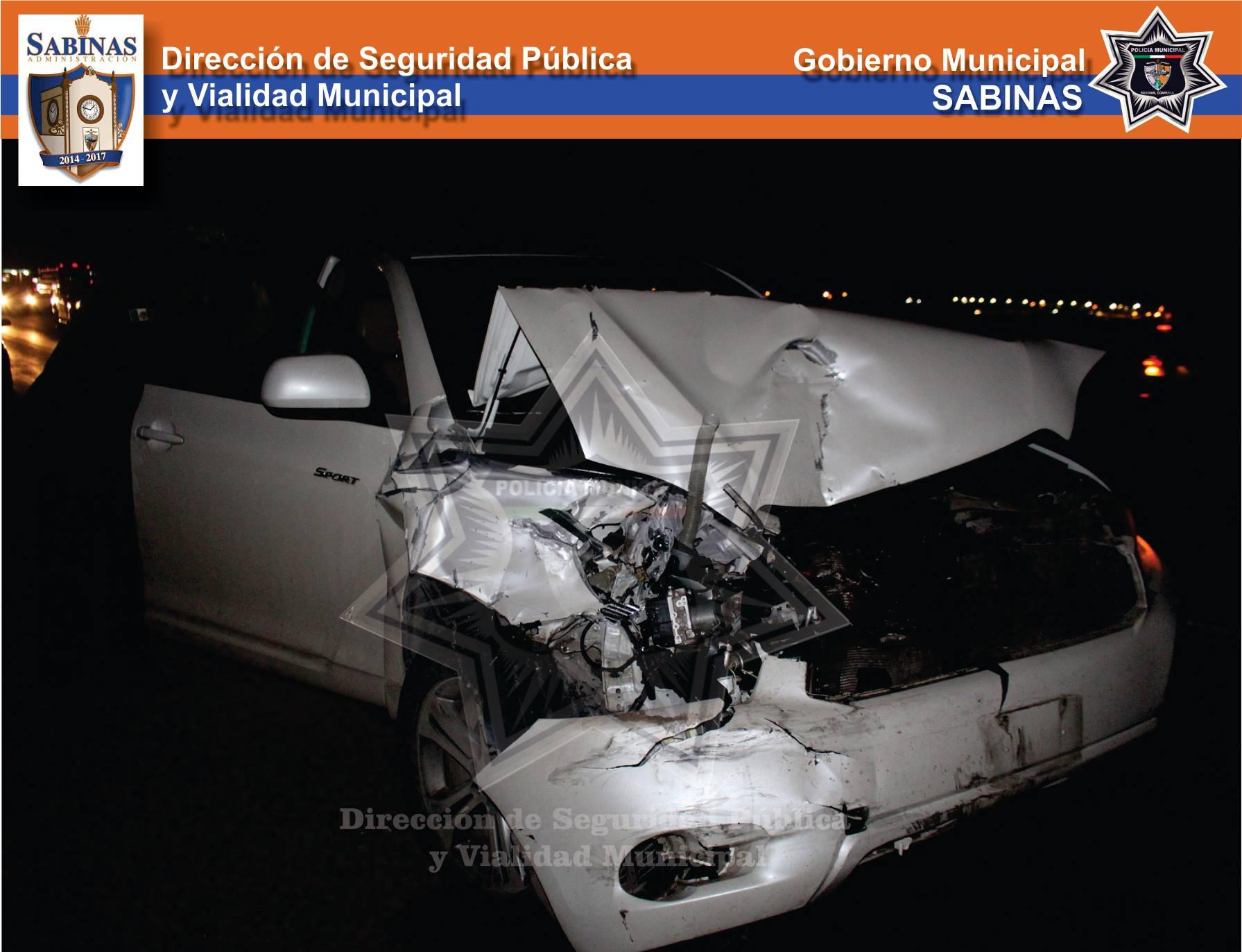Sabinas: Accidente en Carretera Federal 57
