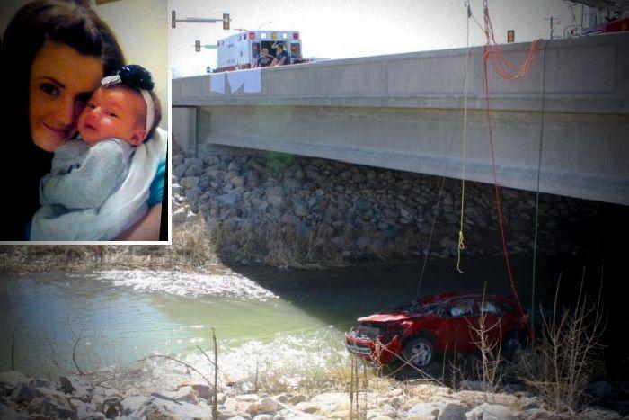 Voz del más allá permite salvar a bebé atrapada en auto accidentado