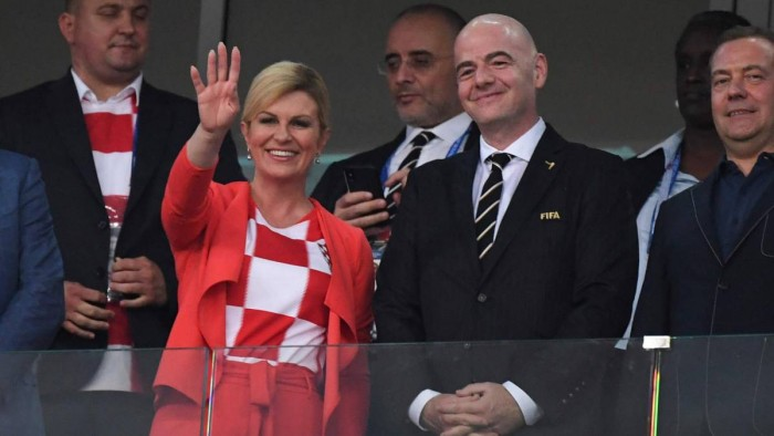 Kolinda Grabar-Kitarovi la presidenta de Croacia en el mundial de Rusia.