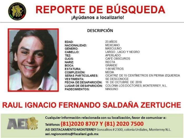 Buscan a estudiante del TEC de Monterrey.