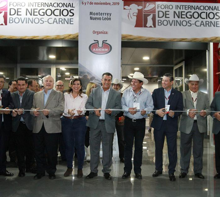 Inaugura Gobernador de N.L Jaime Rodríguez Foro Internacional de Negocios Ganado Bovino Carne