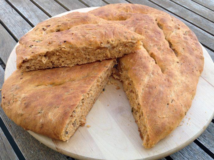 Pan casero sin levadura .¡