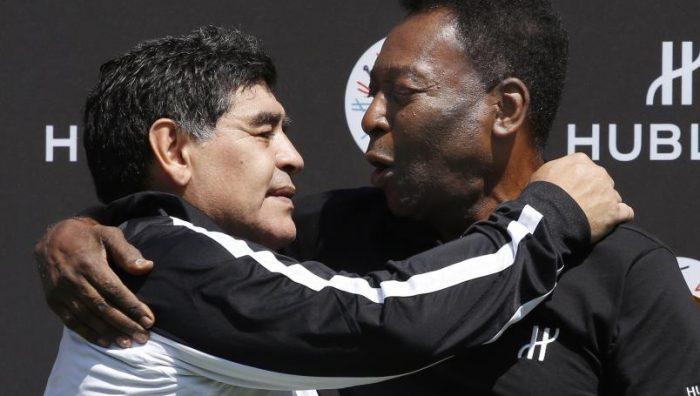 Pelé se despide de Diego Maradona