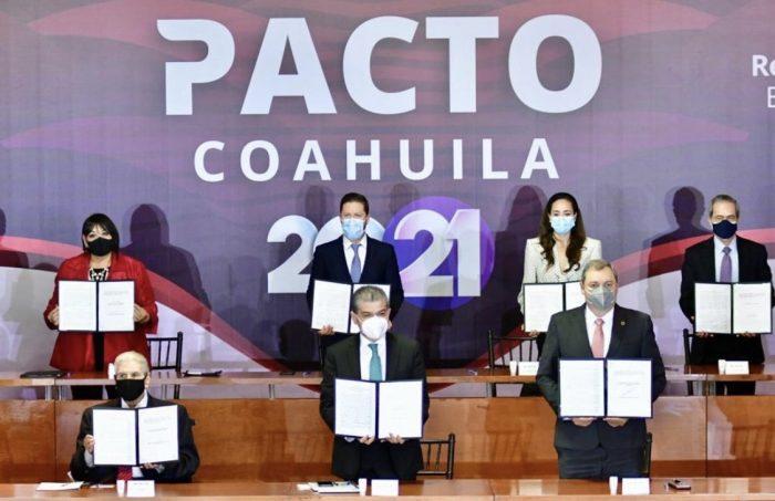 CIERRAN MARS FILAS POR COAHUILA; PACTO 2021