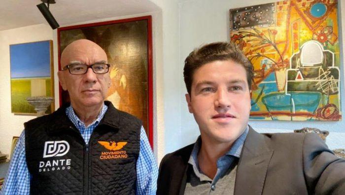 """Samuel García se reúne con Dante Delgado; asegura que van por """"carro completo"""" en Nuevo León"""