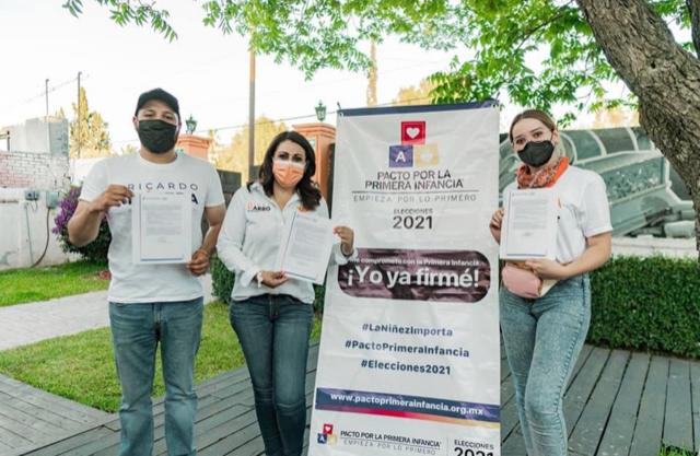 Firman Candidatos de Movimiento Ciudadano Pacto  Por la Primer Infancia en Coahuila