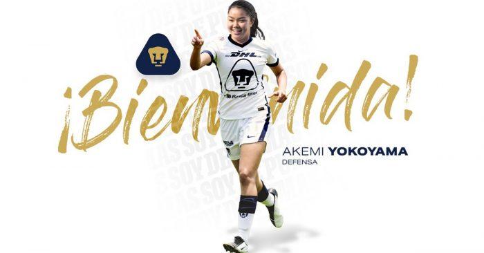 Pumas femenil anunció el fichaje de Akemi Yokoyama