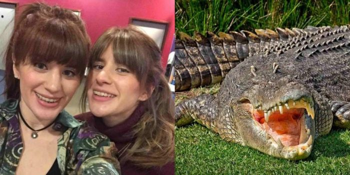 """Era pelear o huir"": habló la joven inglesa que salvó a su gemela del ataque de un cocodrilo en México"