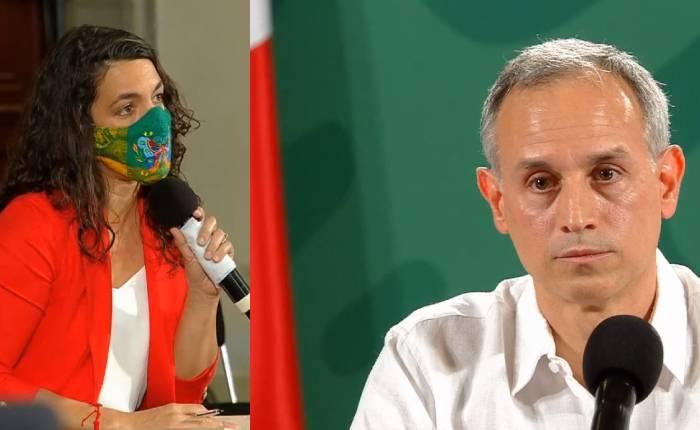 """Hugo López-Gatell y Peniley Ramírez protagonizan """"pleito"""" en conferencia"""
