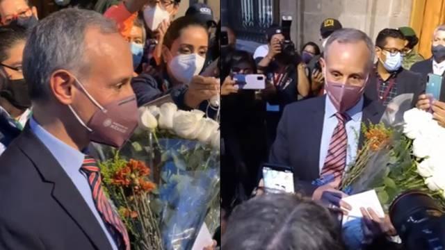 López-Gatell recibe flores y mariachi en su última conferencia